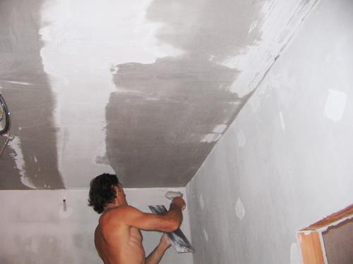 Rosszabb betonfel�letek gipszes vakolattal t�rt�n� �th�z�sa